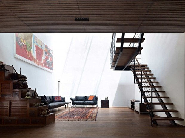 ออกแบบห้องนั่งเล่น ทันสมัย สไตล์ญี่ปุ่น