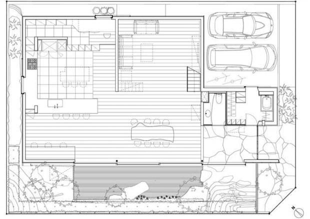 แปลนบ้านโมเดิร์น ทาวน์โฮม 3 ชั้น สไตล์ญี่ปุ่น