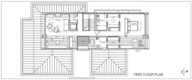 Modern home office plan