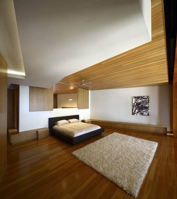 แบบห้องนอน พื้นไม้ ปูพรม เตียงนอนสวยๆ