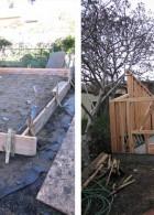 ภาพการสร้างบ้านไม้ ขนาดเล็ก บ้านในสวน