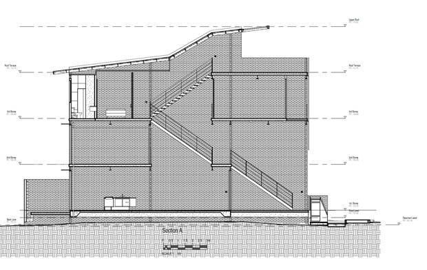 แปลนบ้านตึกแถว สไตล์โมเดิร์น