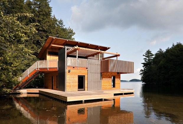 แบบบ้านไม้สวยๆ ริมแม่น้ำ