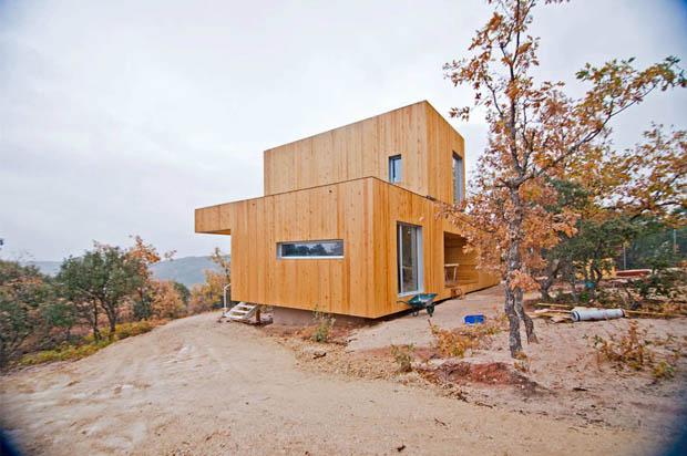 แบบบ้านกล่องไม้