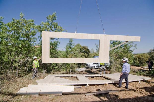ภาพการก่อสร้าง บ้านไม้