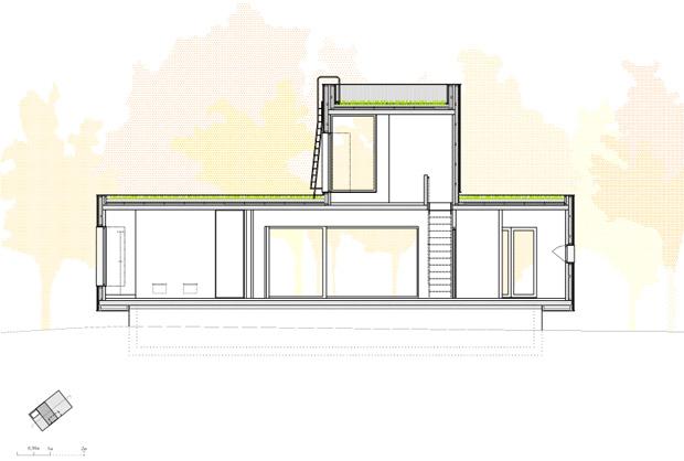 แปลนบ้านไม้ 2 ชั้น รูปทรงโมเดิร์น