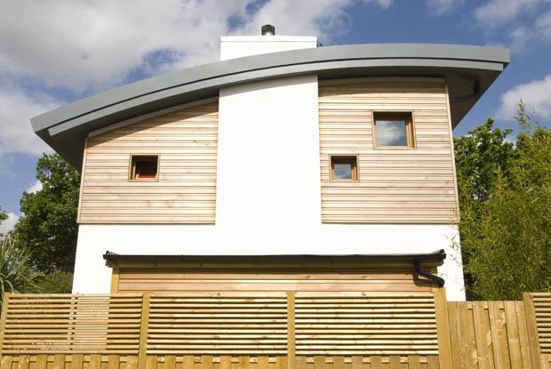 สร้างบ้านเย็น แผ่นไม้ติดผนัง ป้องกันความร้อน