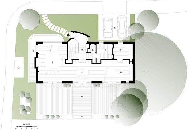 แปลนบ้านและสวน 2 ชั้น
