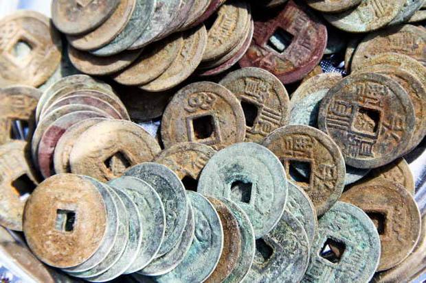 เหรียญจีนโบราณ เสริมฮวงจุ้ย