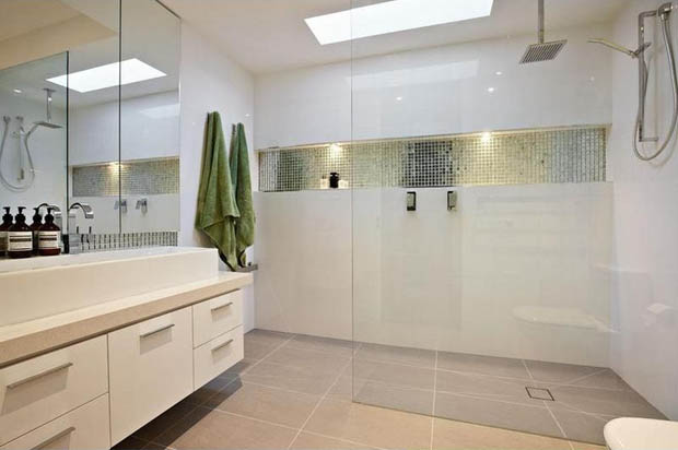 แบบห้องน้ำ แยกส่วนสุขาและโซนอาบน้ำ