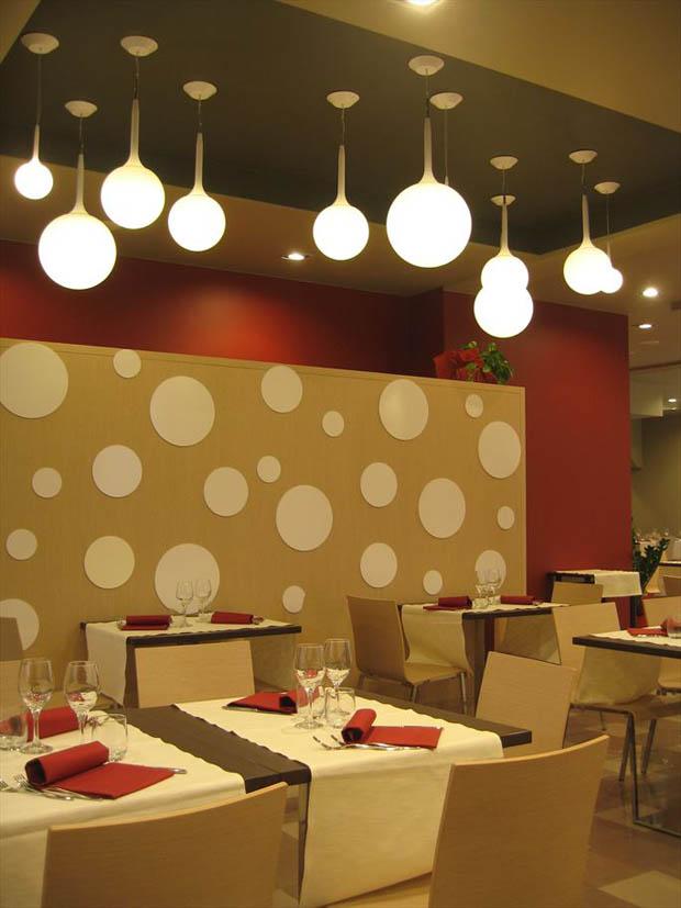 ตกแต่งแสงไฟในร้านอาหาร