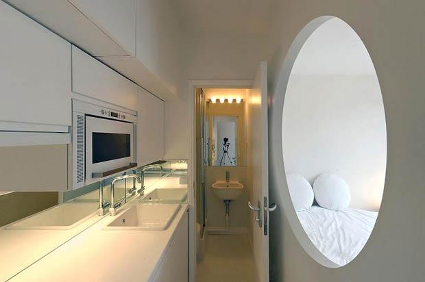 แบบห้องน้ำขนาดเล็ก แคบๆ ในอพาร์ทเม้นท์