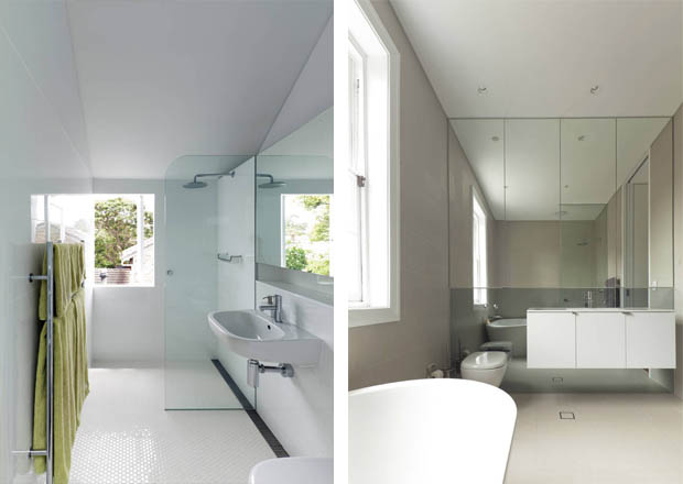 ตกแต่งห้องน้ำ สีขาว ดูสะอาดตา