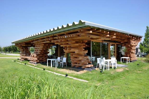 แบบร้านกาแฟสด สร้างจากไม้