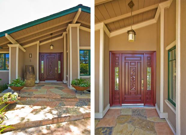 แบบประตูบ้านไม้สัก แกะสลักสวยๆ