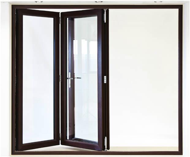 ประตูบานเฟี้ยม 3 บาน พับด้านเดียว