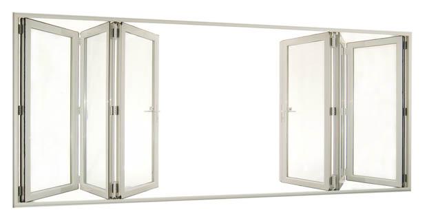 ประตูบานเฟี้ยม กระจก อลูมิเนียม
