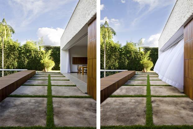 การออกแบบสวนทางเดินข้างบ้าน