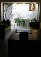 เก้าอี้ โมเดิร์น สีเขียว กลางแจ้ง