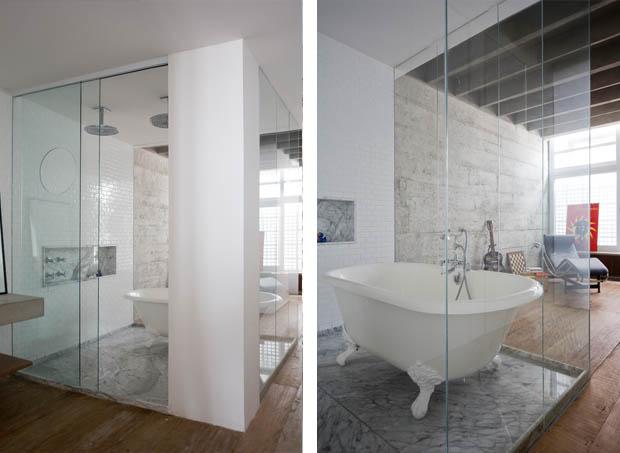 อ่างอาบน้ำ ห้องอาบน้ำกระจก