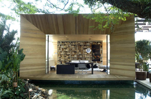 แบบห้องนอนกลางแจ้ง พื้นที่ในสวน