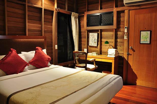 ห้องนอน บ้านไม้ เรือนไทยประยุกต์