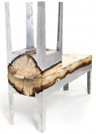 เก้าอี้ไม้ แบบยาว เก้าอี้ไม้ ทรงสูง