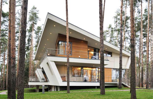 ออกแบบบ้านสองชั้น สมัยใหม่