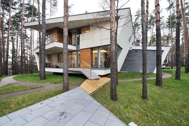 ออกแบบบ้านปูนสองชั้น