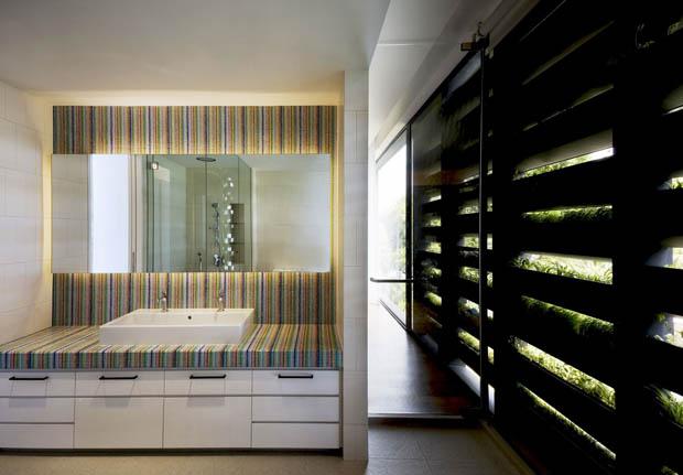 แบบห้องน้ำปูน ทำตู้เก็บของใต้อ่างล้างหน้า