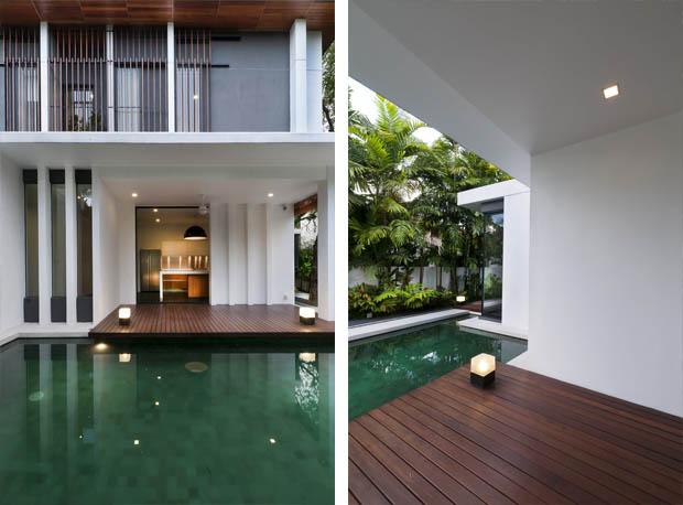 แบบสระว่ายน้ำ สร้างสระว่ายน้ำในสวนข้างบ้าน