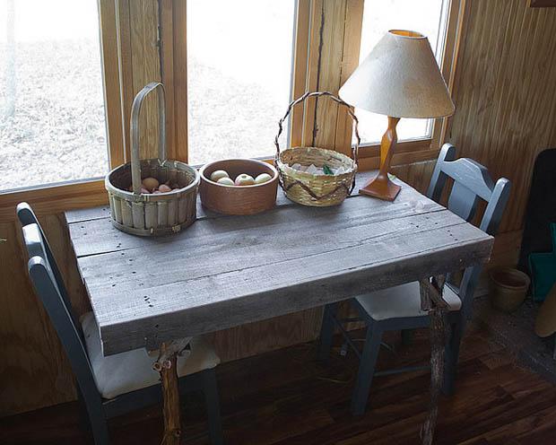 โต๊ะไม้ ทำเอง