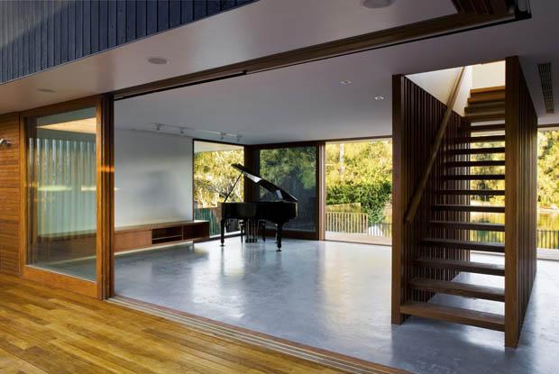 ออกแบบห้องเล่นเปียโน โล่งกว้างสบาย