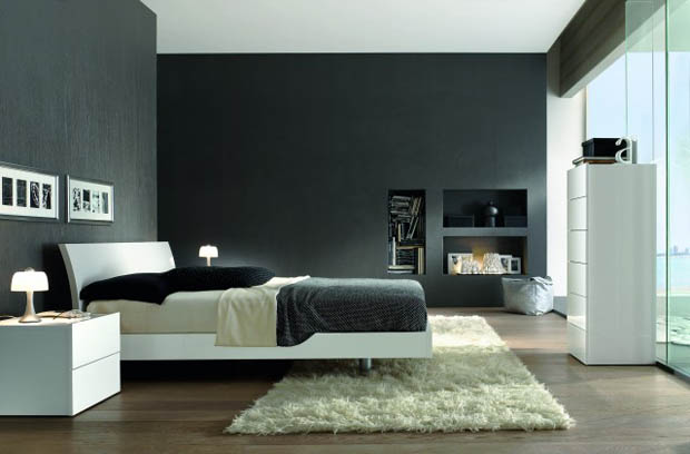 for Black and grey bedroom designs