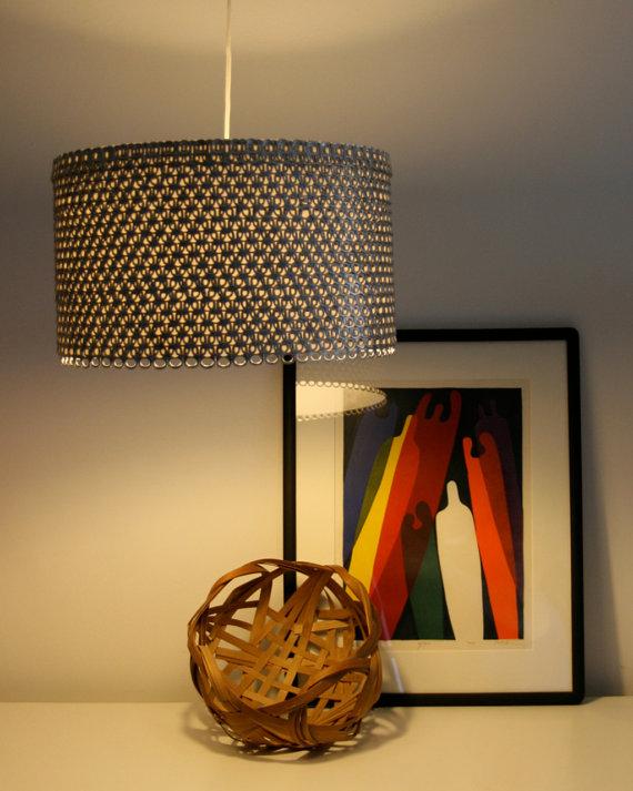 โคมไฟตั้งโต๊ะ ทำเอง จากกระป๋องน้ำอัดลม
