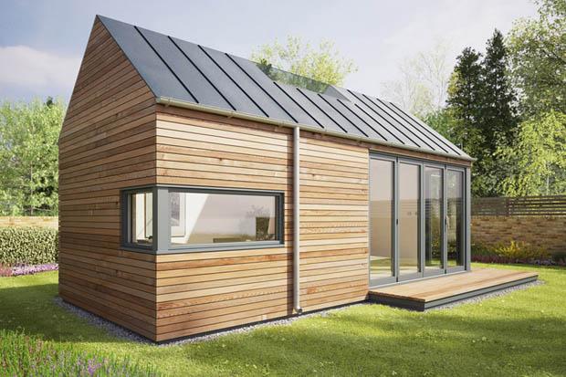 แบบบ้านสำเร็จรูป บ้านไม้ราคาถูก