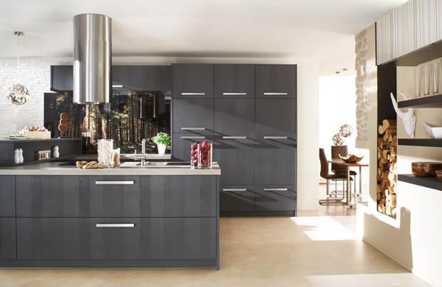 ตู้ห้องครัว สีดำ