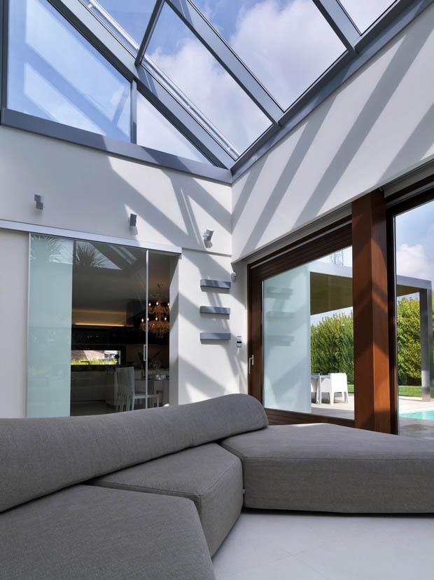 เพดานกระจก แสงจากภายนอก