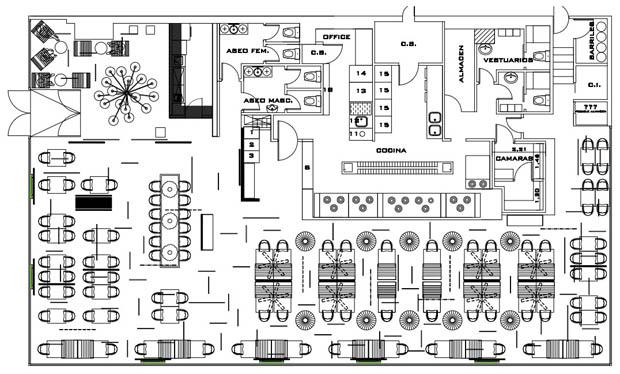 Restaurant And Bar Kitchen Floor Plan