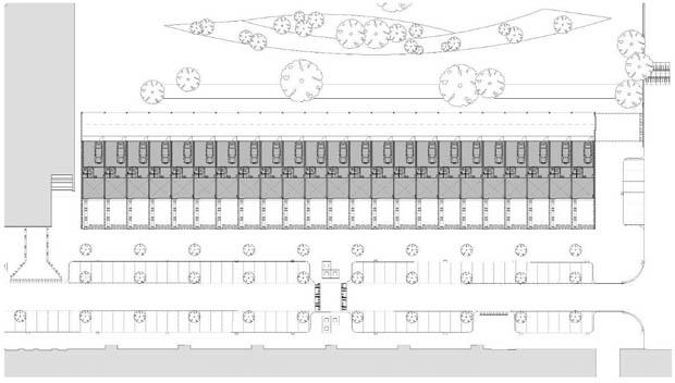 แปลนบ้านจัดสรร อาคารพานิชย์ 3 ชั้น