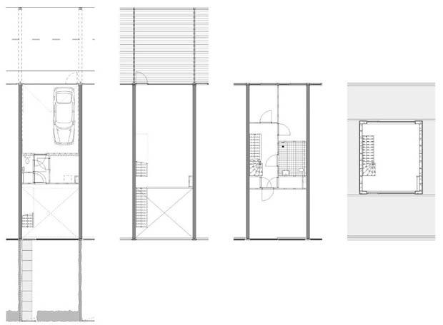 แบบอาคารพานิชย์ 3 ชั้น 2 ห้องนอน