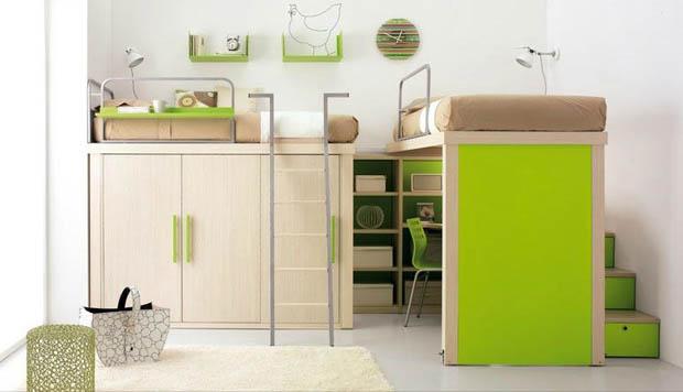 รูปภาพห้องนอนสวยๆ สีเขียว