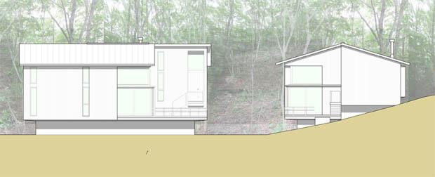 แปลนบ้านไม้ มีใต้ถุน ระเบียงหน้าบ้าน