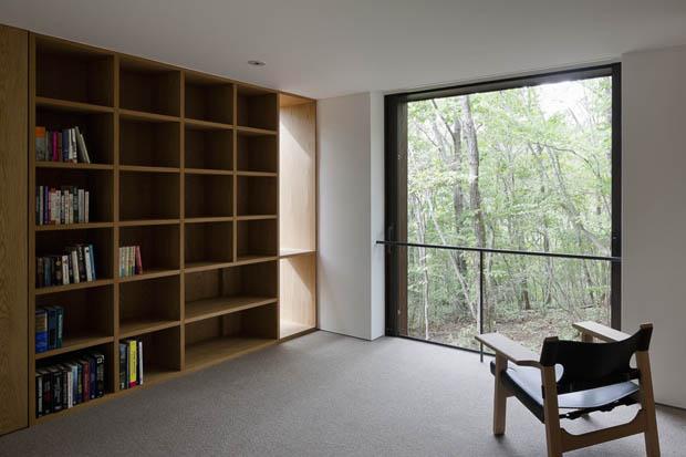 ตู้หนังสือ แบบมุมอ่านหนังสือในบ้าน
