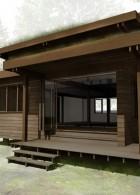 เขียนแบบแปลนบ้านไม้ ยกพื้นสูง