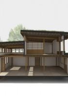 โครงสร้างภายในบ้านไม้ สองชั้น