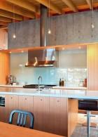 ห้องครัวผนังคอนกรีต