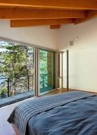 แบบห้องนอน ติดหน้าต่างกระจก เห็นภายนอก