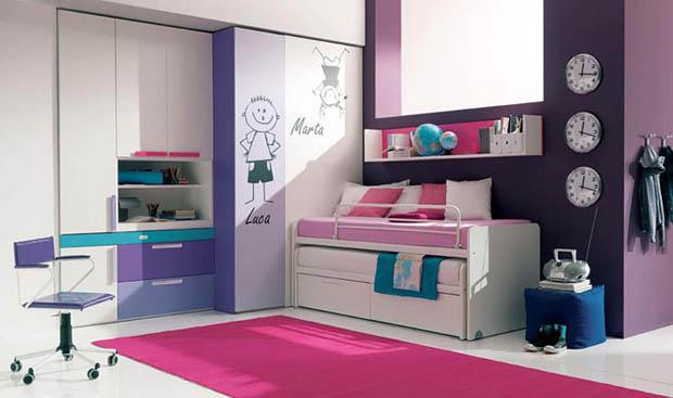 แบบห้องนอนสีหวานๆ น่ารักๆ