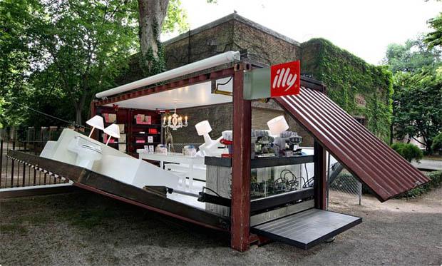 แบบร้านกาแฟ ตู้คอนเทนเนอร์